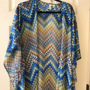 Colorful tacera swim coverup